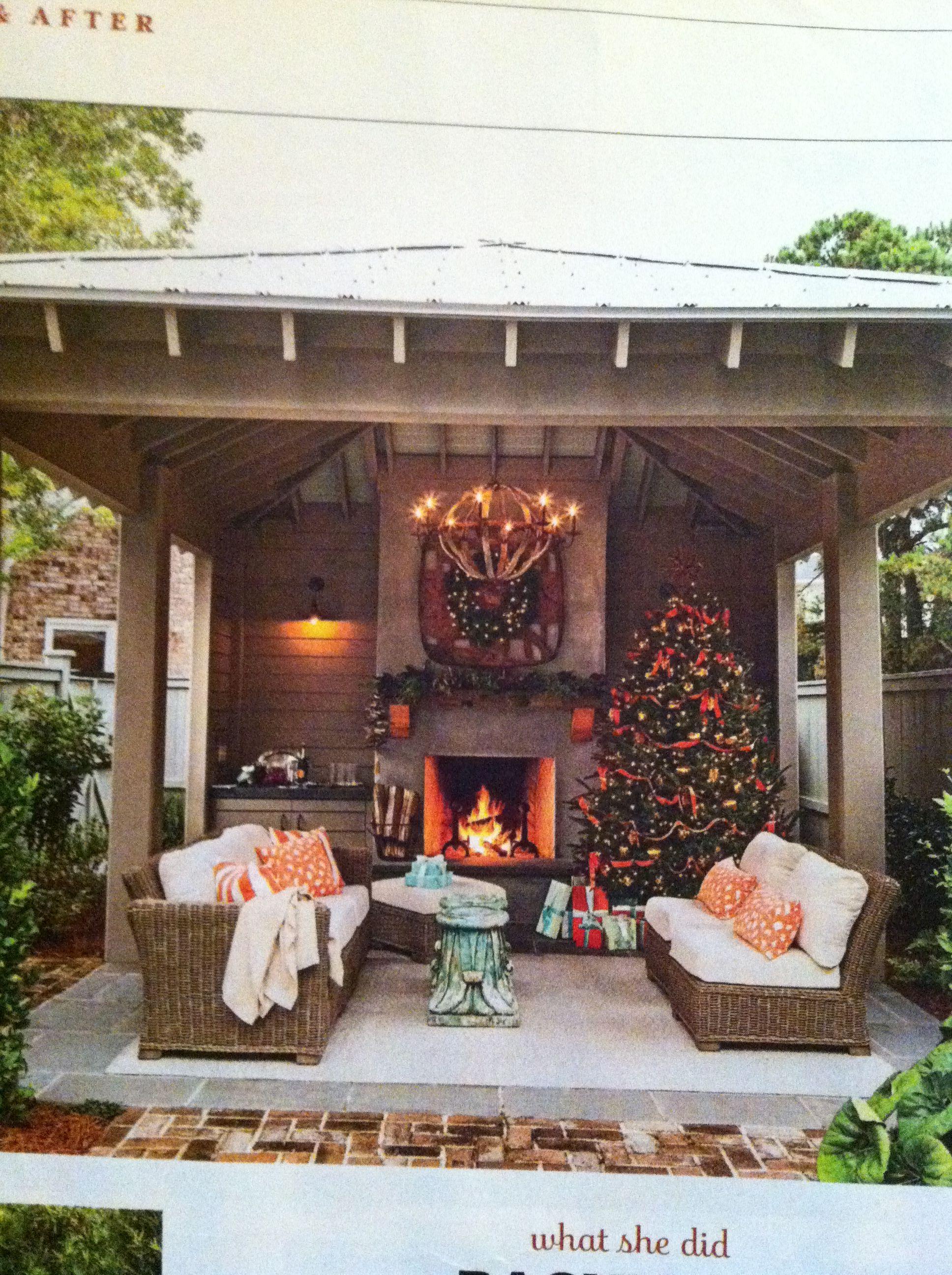 Backyard Instead Of A Gazebo Backyard Fireplace Outdoor Fireplace Designs Outdoor Fireplace