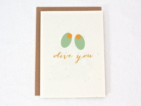 Olive You Love Card  17 MustHave Funny Valentines Day Cards