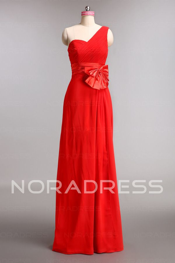 03ceead4b Sleeveless A-Line Auditorium Prom Dress With Fixed Belt And One Bow -  Noradress