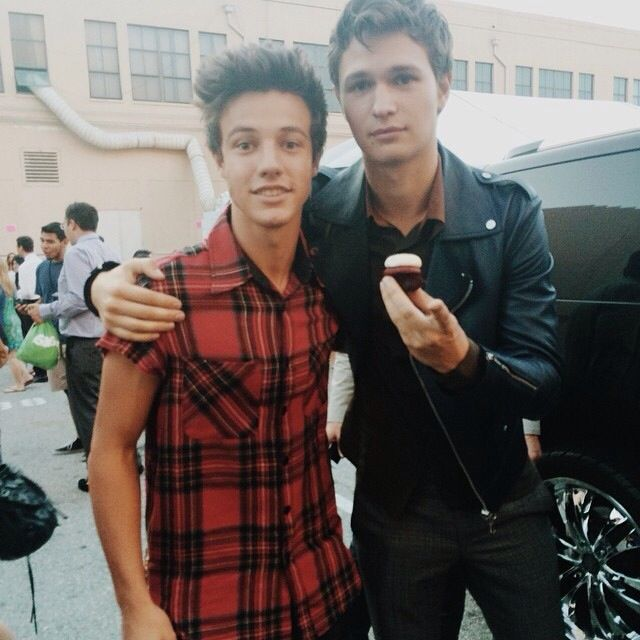 Cameron Dallas and Ansel Elgort