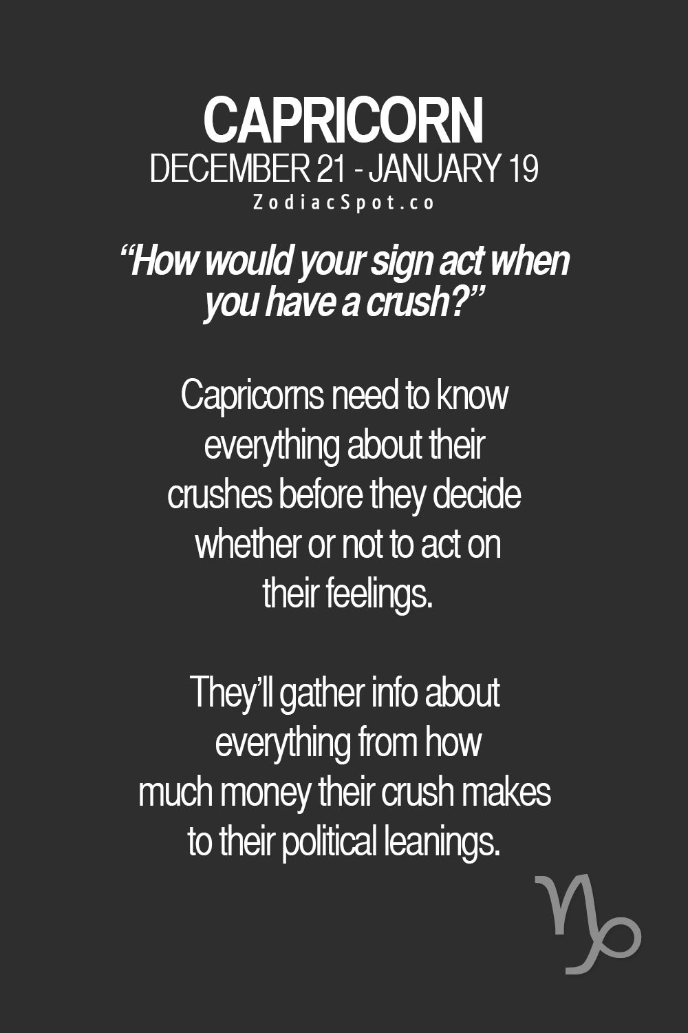 zodiacspot: How would your sign act when you have a crush