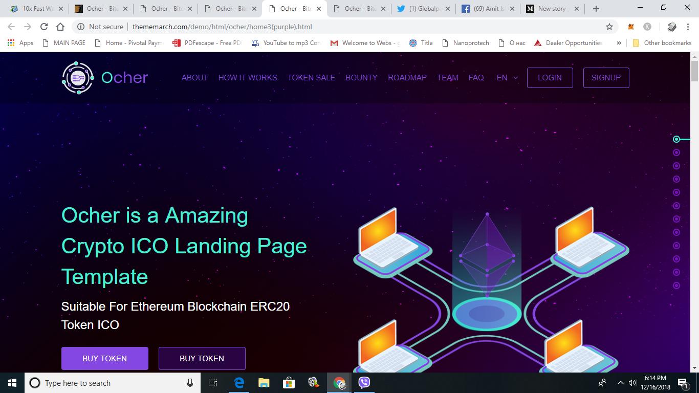 ethereum website template