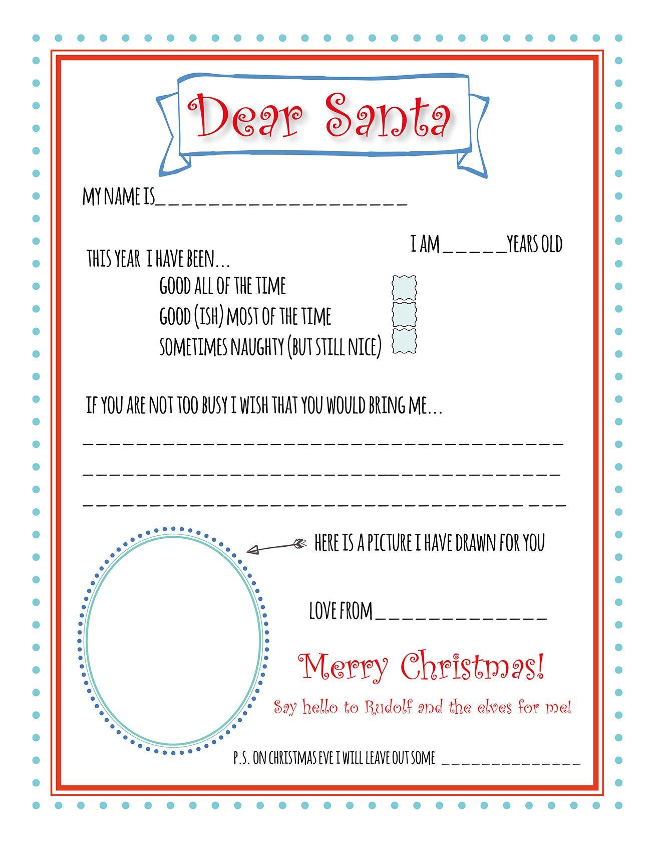 picture relating to Printable Santa List identify Santa Letter Printable Template Xmas Santa letter