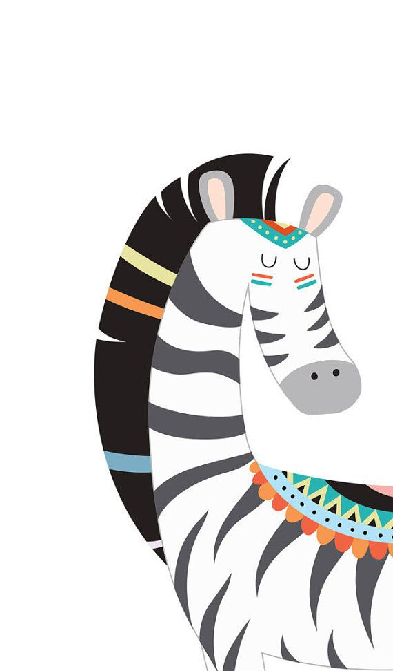Zebra wall art Zebra decor African animals by WordsAndConfetti