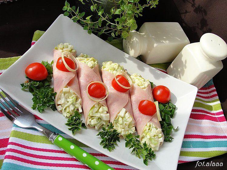 Salatka Z Pora W Szynce In 2019 A Salads Food Salad Cooking