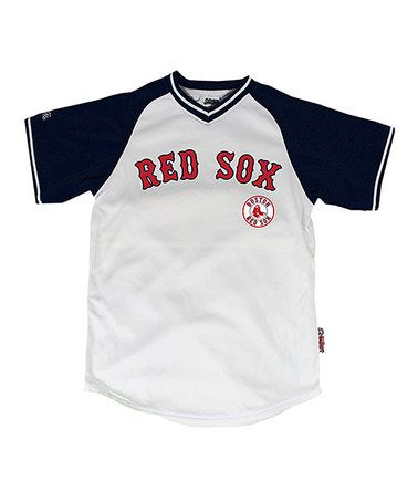 Take a look at this White   Navy Boston Red Sox Jersey - Boys by Stitches  Athletic Gear on  zulily today! dd377a78a39