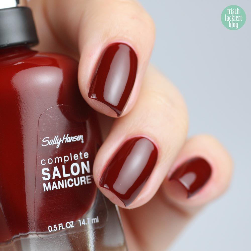Sally Hansen – Red Zin – swatch by frischlackiert | Uñas | Pinterest ...