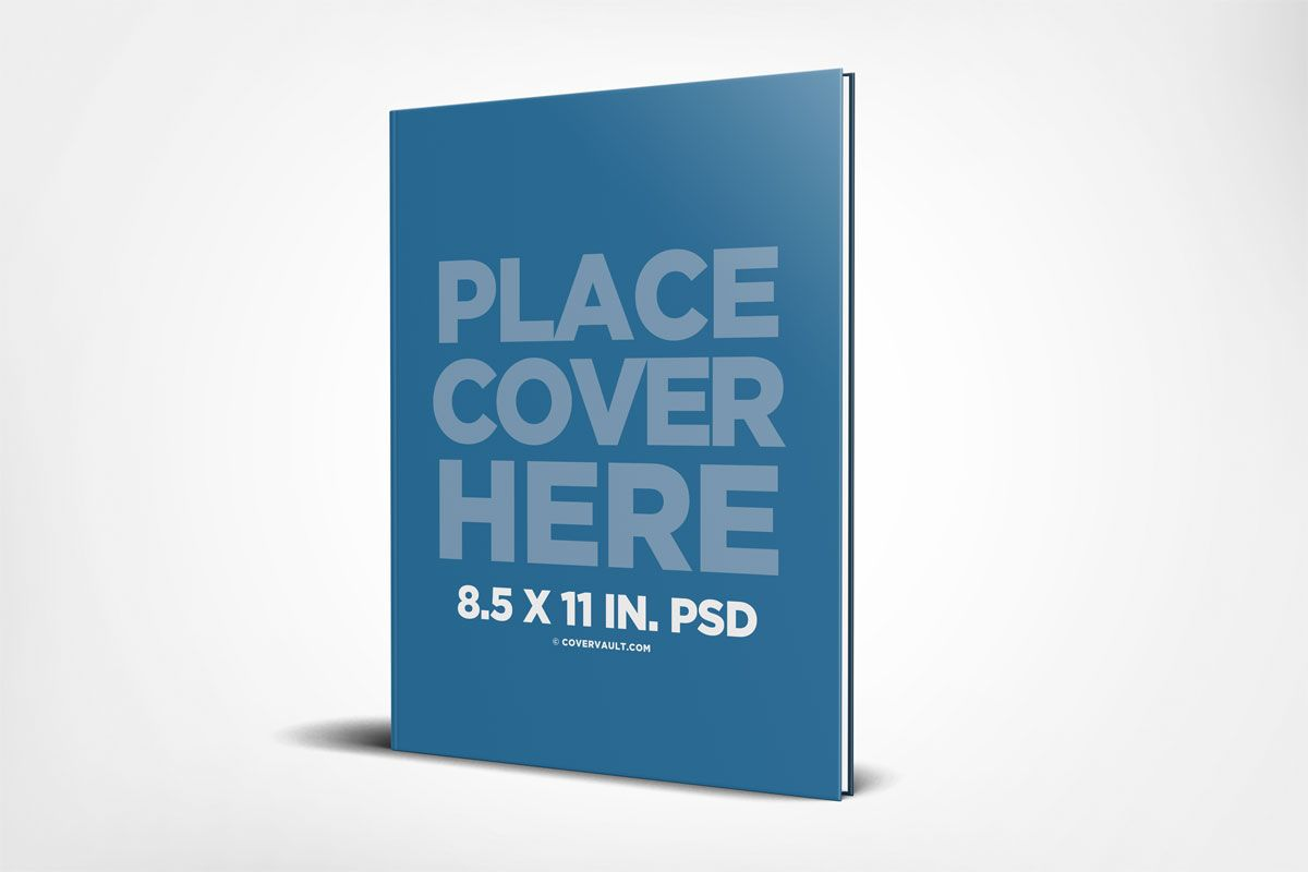 Hardcover 8 5 X 11 Book Mockup Template