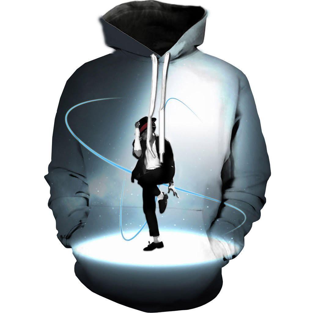 3D Print Men Hoodie Sweater Sweatshirt Michael Jackson  Jacket Pullover Tops