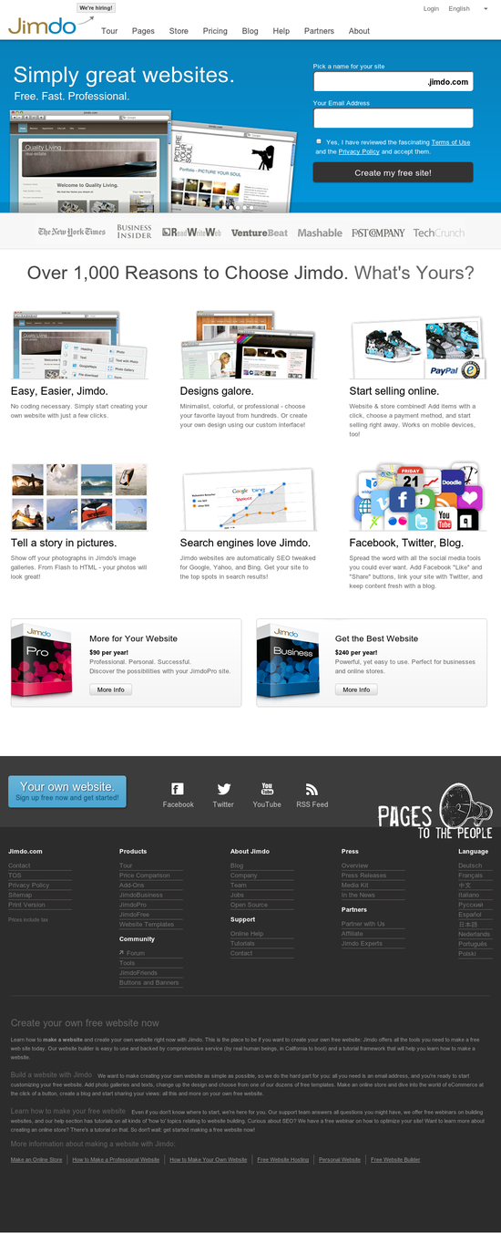 Jimdo Com Is One Of The Most Popular Website Builders
