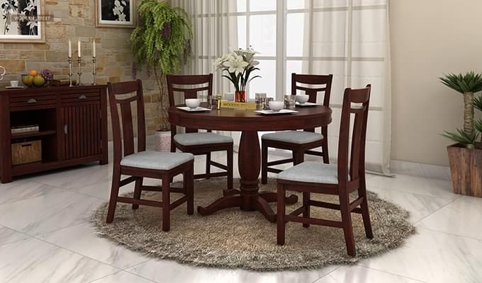 Buy New Designed Round Dining Table Sets Online In India At