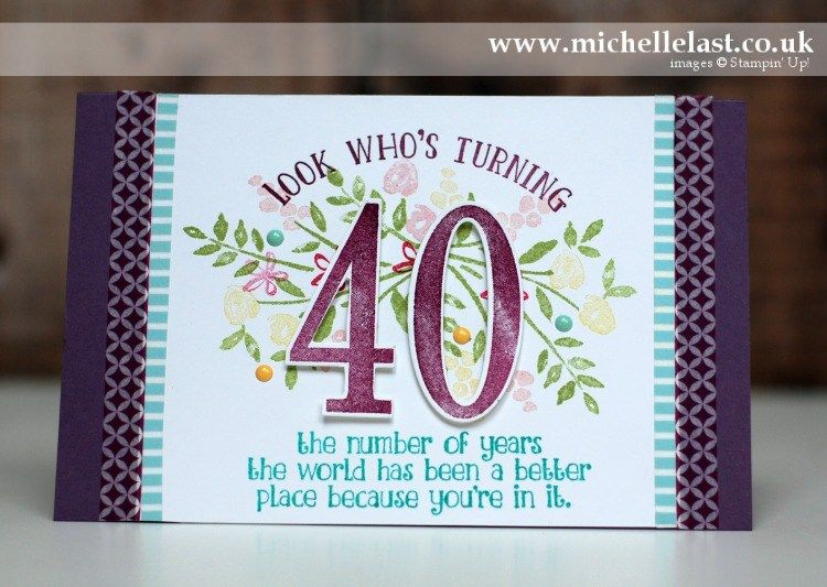 40th Birthday Card For Gdp102 40th Birthday Cards Birthday Cards Card Making Birthday