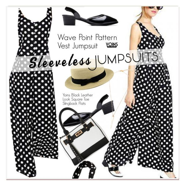 """""""All-in-One: Sleeveless Jumpsuits"""" by paculi ❤ liked on Polyvore featuring IMoshion, yoins, yoinscollection, loveyoinsin and sleevelessjumpsuits"""