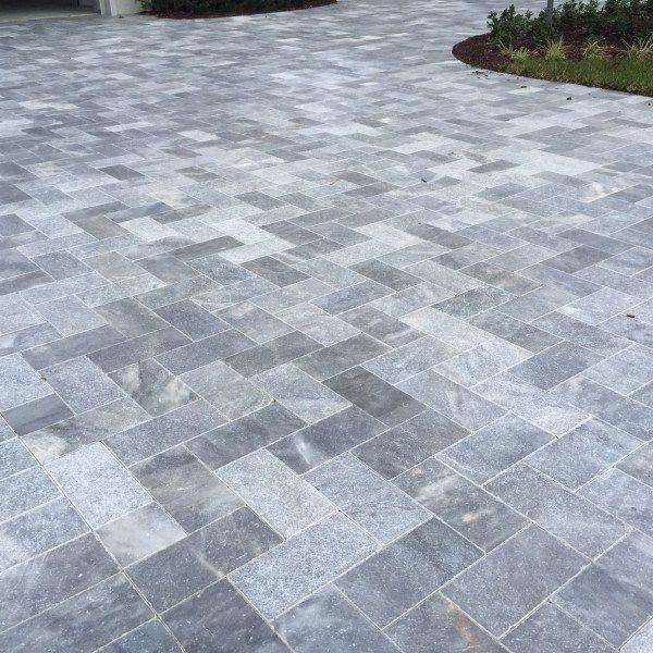 Sky Blue Tumbled Marble Pavers 6 12 Patio Pavers Design Patio Stones Paver Patio