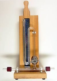 Kviksølv er traditionelt blevet brugt i en lang række måleinstrumenter, her et barometer.
