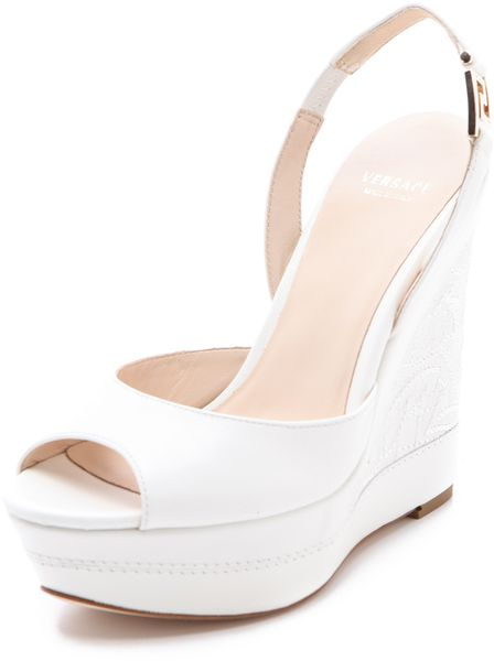 3d62813292ae versace Platform Wedge Sandals - Lyst