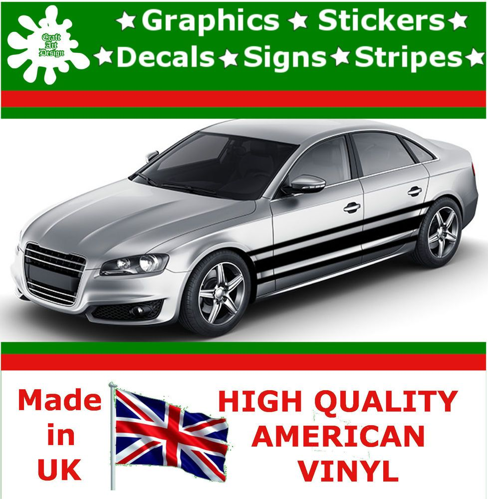 Car design sticker rally - 19 Racing Stripes Sticker Vinyl Decal Art Car Auto Rally Graphics Viper Sp3_19