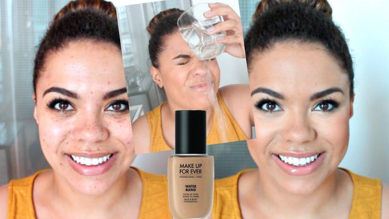 New Makeup Forever Water Blend Foundation Wear Waterproof Test On Oily Skin Samantha Jane Makeup Forever Oily Skin Makeup