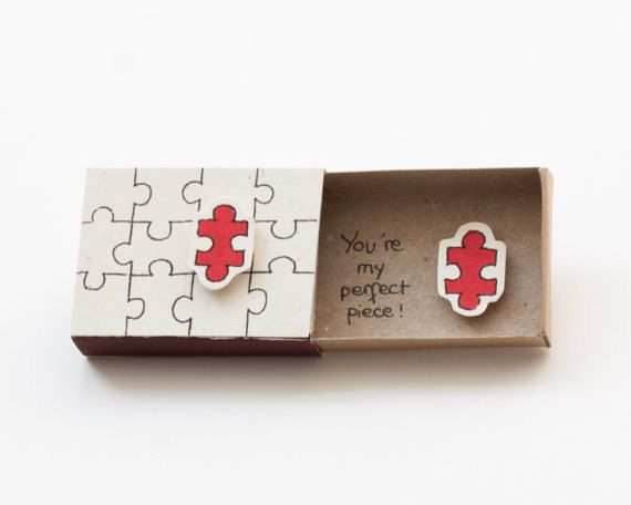 Lustige Liebeskarte / süßes Puzzle Love Card / Handmade