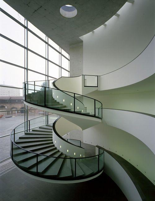 Interior of Staab Architekten's New Museum in Nürnberg 1999