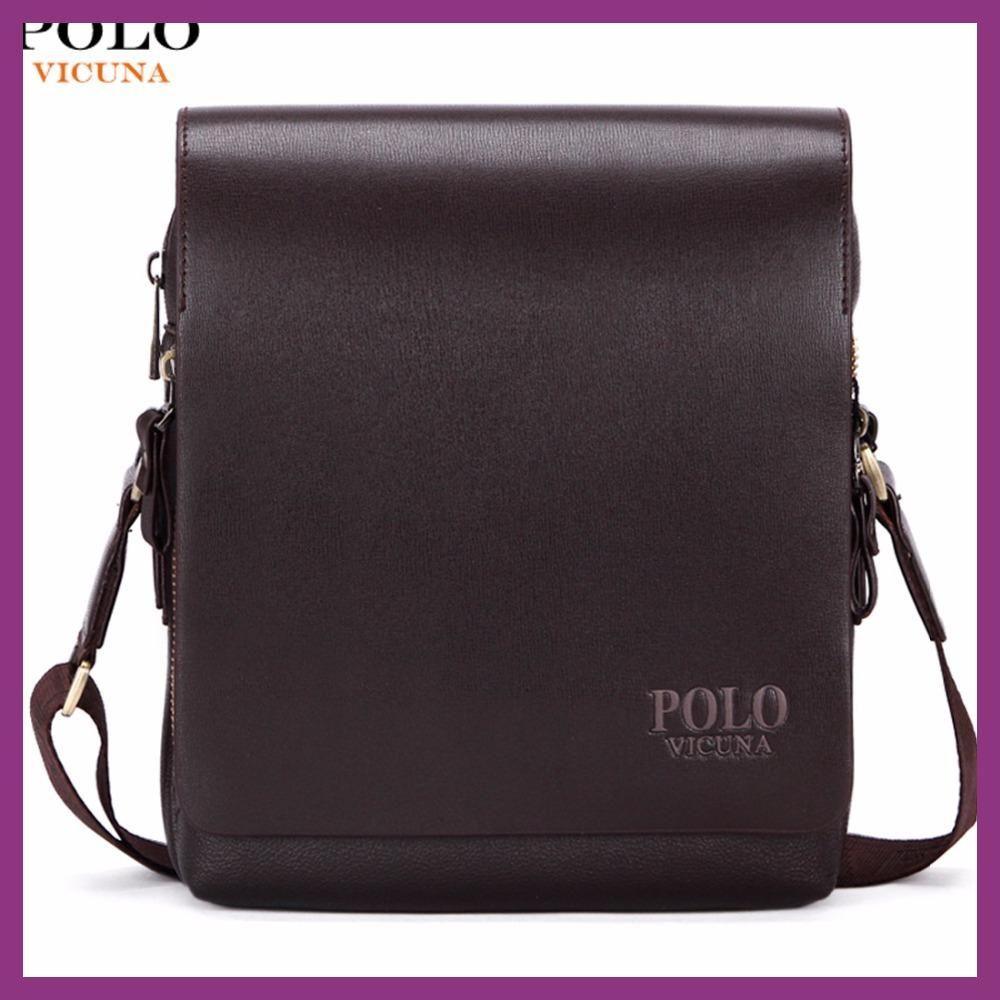 VICUNA POLO New Arrival Fashion Business Leather Men Messenger Bags  Promotional Small Crossbody Shoulder Bag Casual dde666ea9e24e
