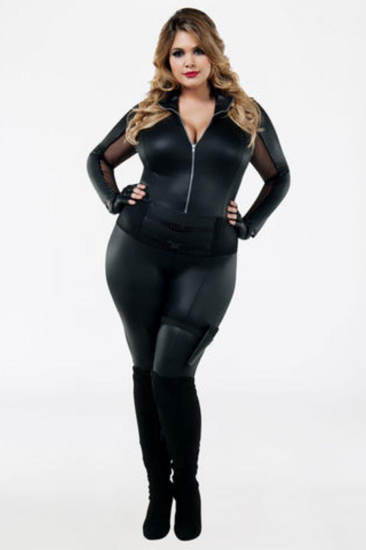 23dbf6f88c0 plus size sexy hot SECRET AGENT cat burglar catsuit HALLOWEEN COSTUME Sexy  Fashion for Plus Size Women