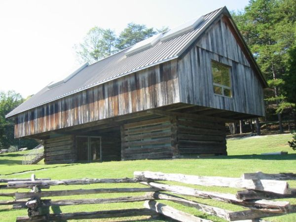 Cantilever Barn Style House With Traditional