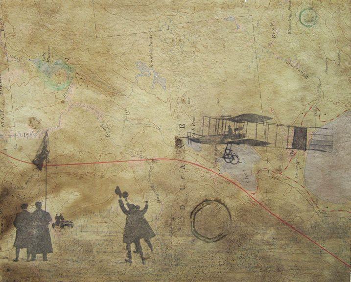 First Flight - Kill Devil Hill - Wright Brothers - Original Drawing ...