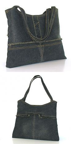 Recycled purse up cycled denim shoulder bag one of от Sisoibags