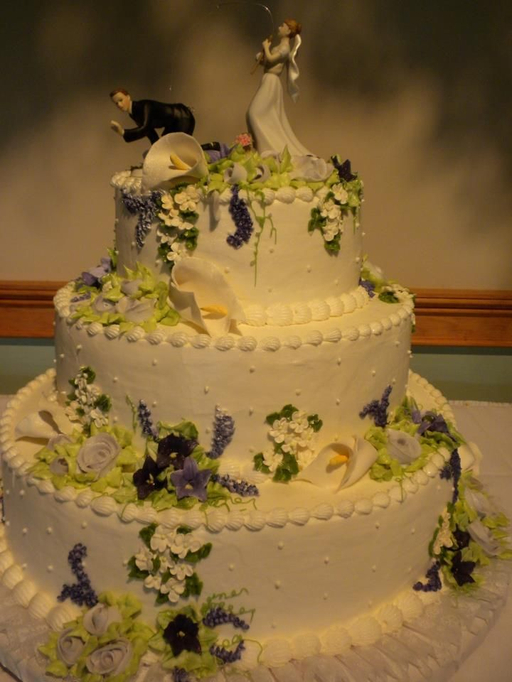 Wedding Cake with a different kind of \'fishing\' theme. June\'s ...