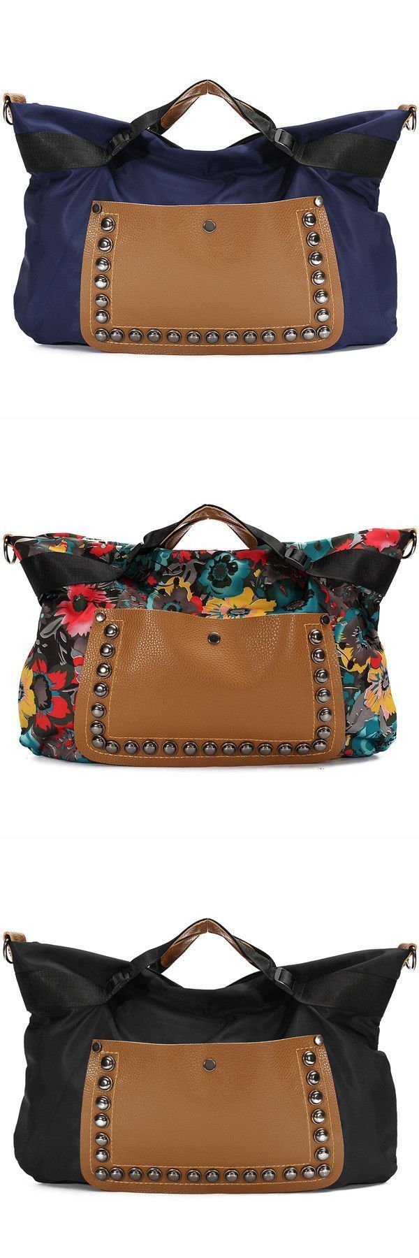 Women Vintage Pu Leather Tote Shoulder Messenger Handbag Hobo Satchel Rivet Bag Xchange Handbags