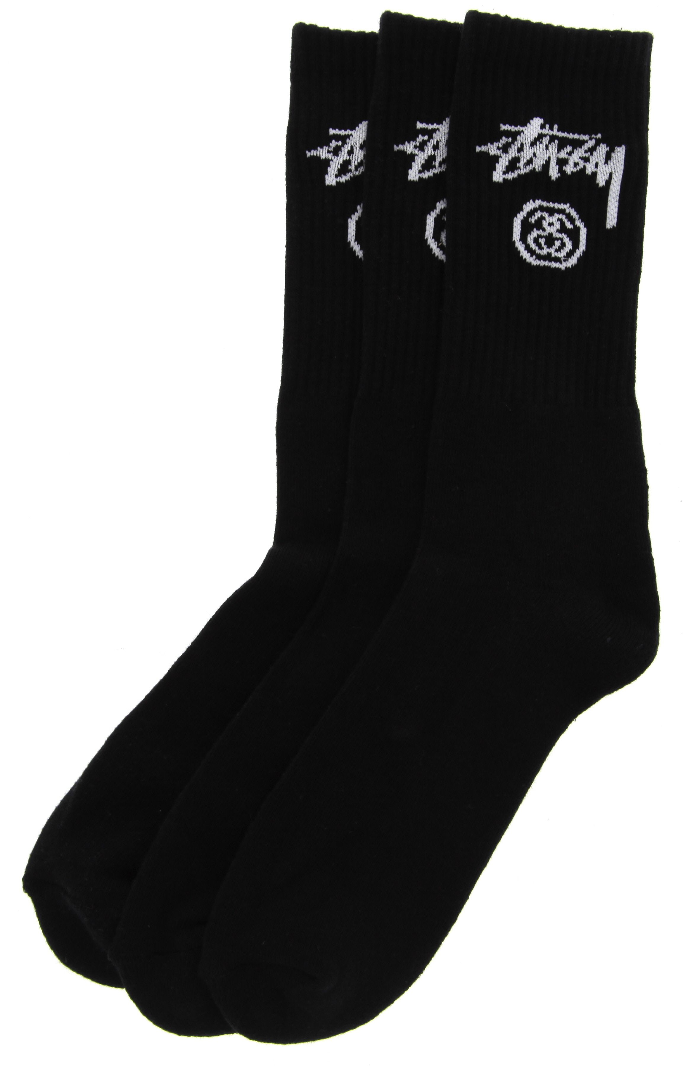 8ed1f1fa5be Stussy 3 Pack of Stock Crew Socks in Black NEW