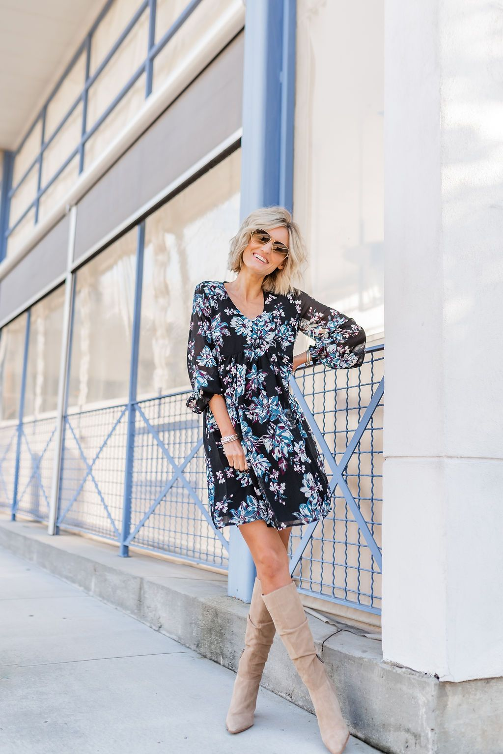Fall Dresses Under 60 With Walmart Loverly Grey In 2021 Fall Dresses Dresses Purple Midi Dress [ 1534 x 1024 Pixel ]