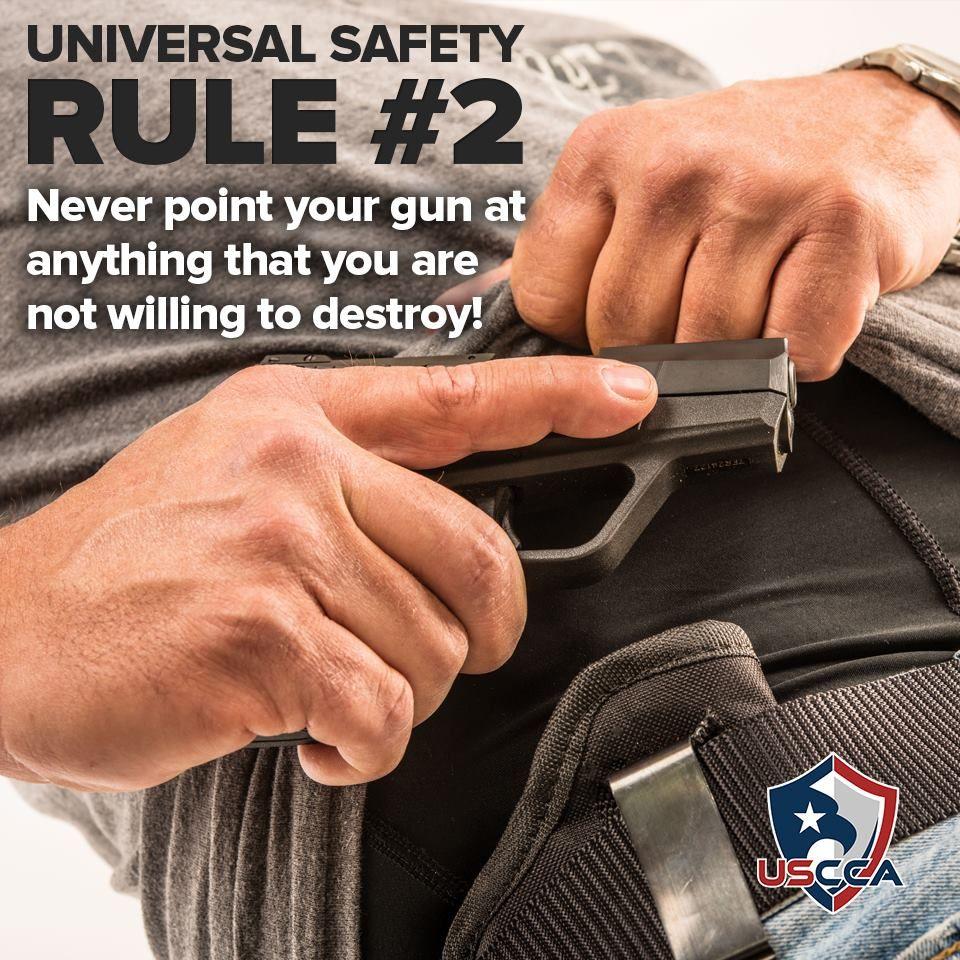 Universal Gun Safety Rule 2 Guns safety, Guns tactical