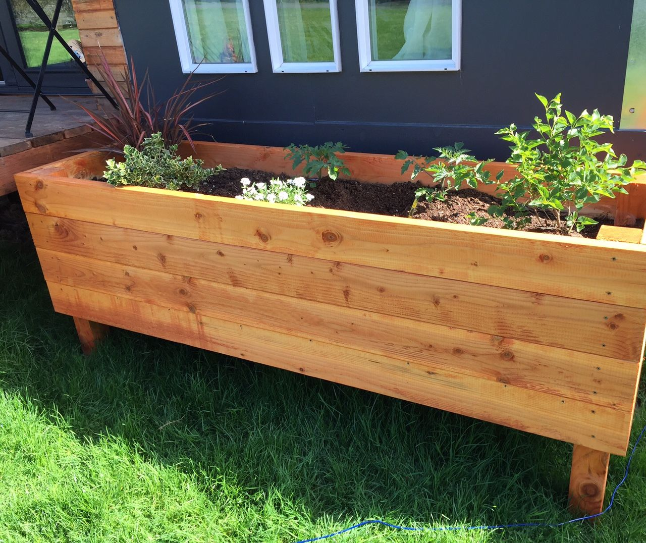 Planter Boxes To Hide Trailer