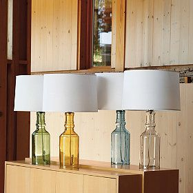 I love these lamps!  If I were crafty I could probably figure out how to make them....