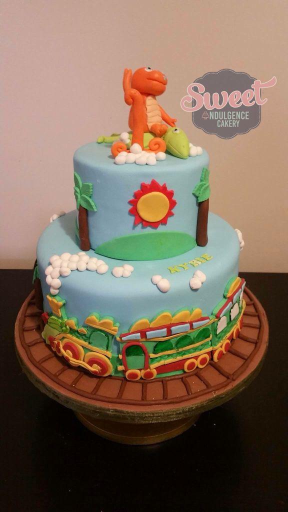 Astounding Dinosaur Train Birthday Cake The Cake Boutique Personalised Birthday Cards Veneteletsinfo