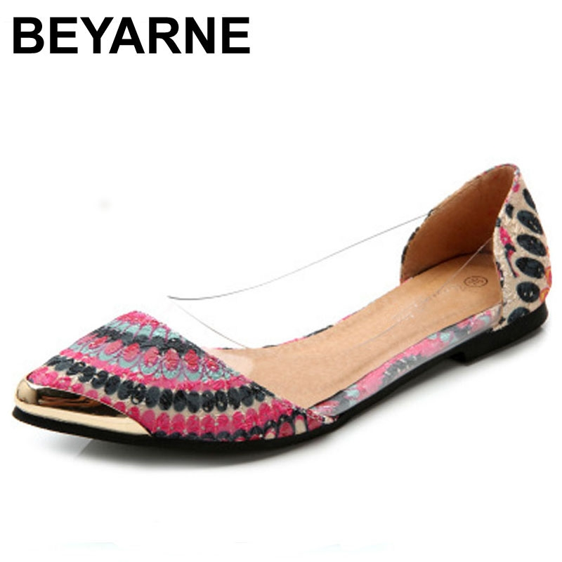 11.80$  Buy now - http://aliejc.shopchina.info/go.php?t=1968898999 - BEYARNESummer Women Flats Shoes New Shoes Woman Brand Fashion Casual Sapatos Femininos Ballet Ballerina Ballet Flat Sandals  11.80$ #aliexpressideas