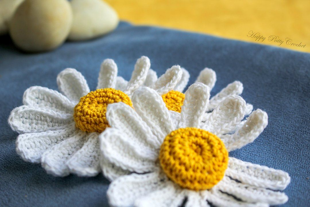 Ravelry Daisy Flower Applique By Happy Patty Crochet Crochet