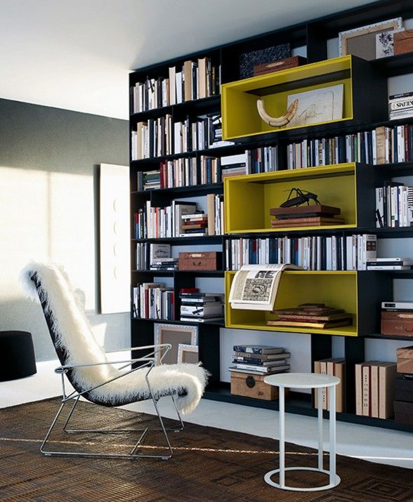 Biblioteca moderna Casa Pinterest Biblioteca moderna - bibliotecas modernas en casa