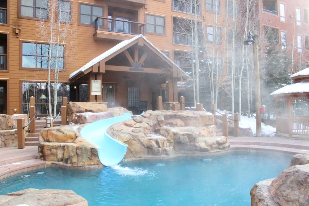 The Springs Keystone Colorado Outside Hot Tub And Waterslide Waterslide Family Travel
