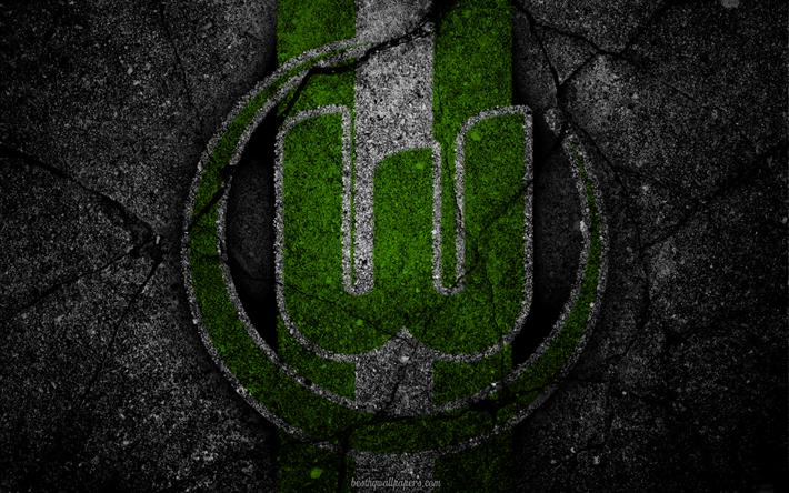 Download wallpapers wolfsburg logo art bundesliga soccer