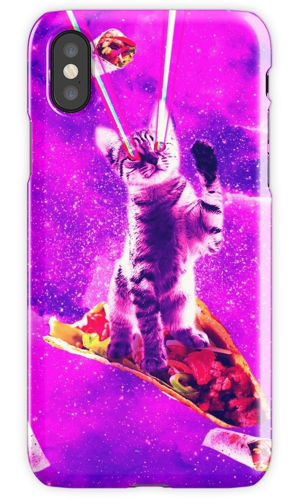 Outer space taco cat rainbow laser eyes burrito iphone case by skylerjhill taco cat outer space and cat