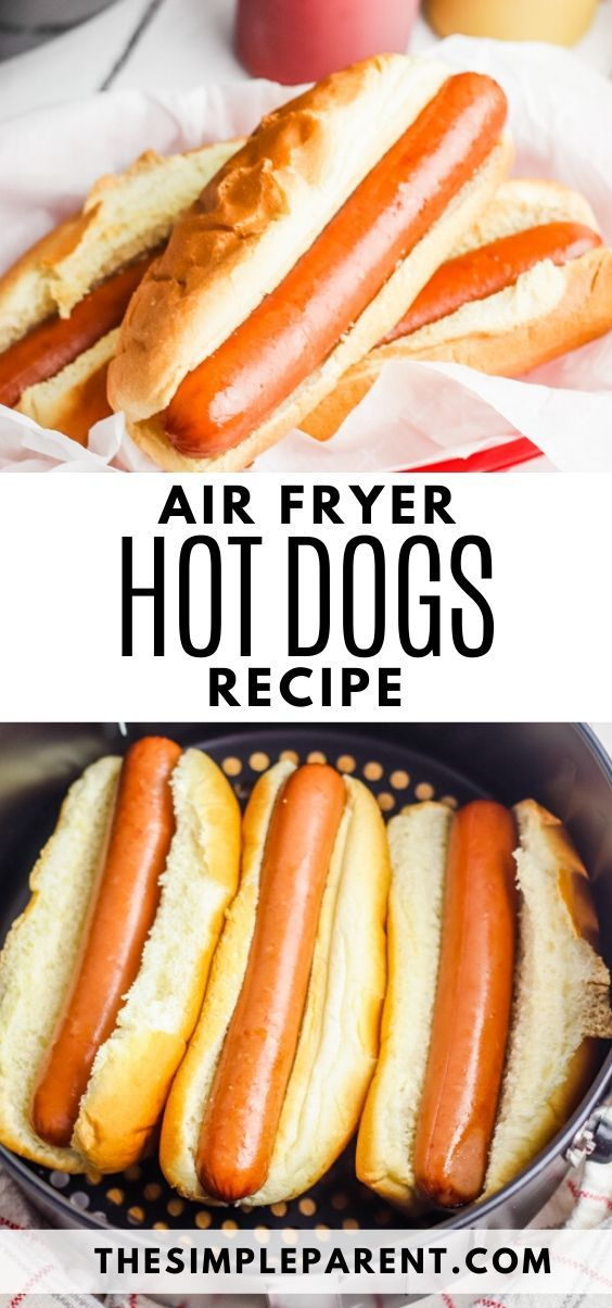 Cook a hot dog in air fryer! It takes less than 10 minutes ...