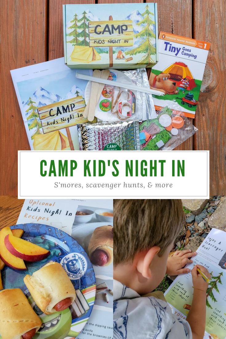 Camp Kid's Night In   Kids night, Fun family activities ...