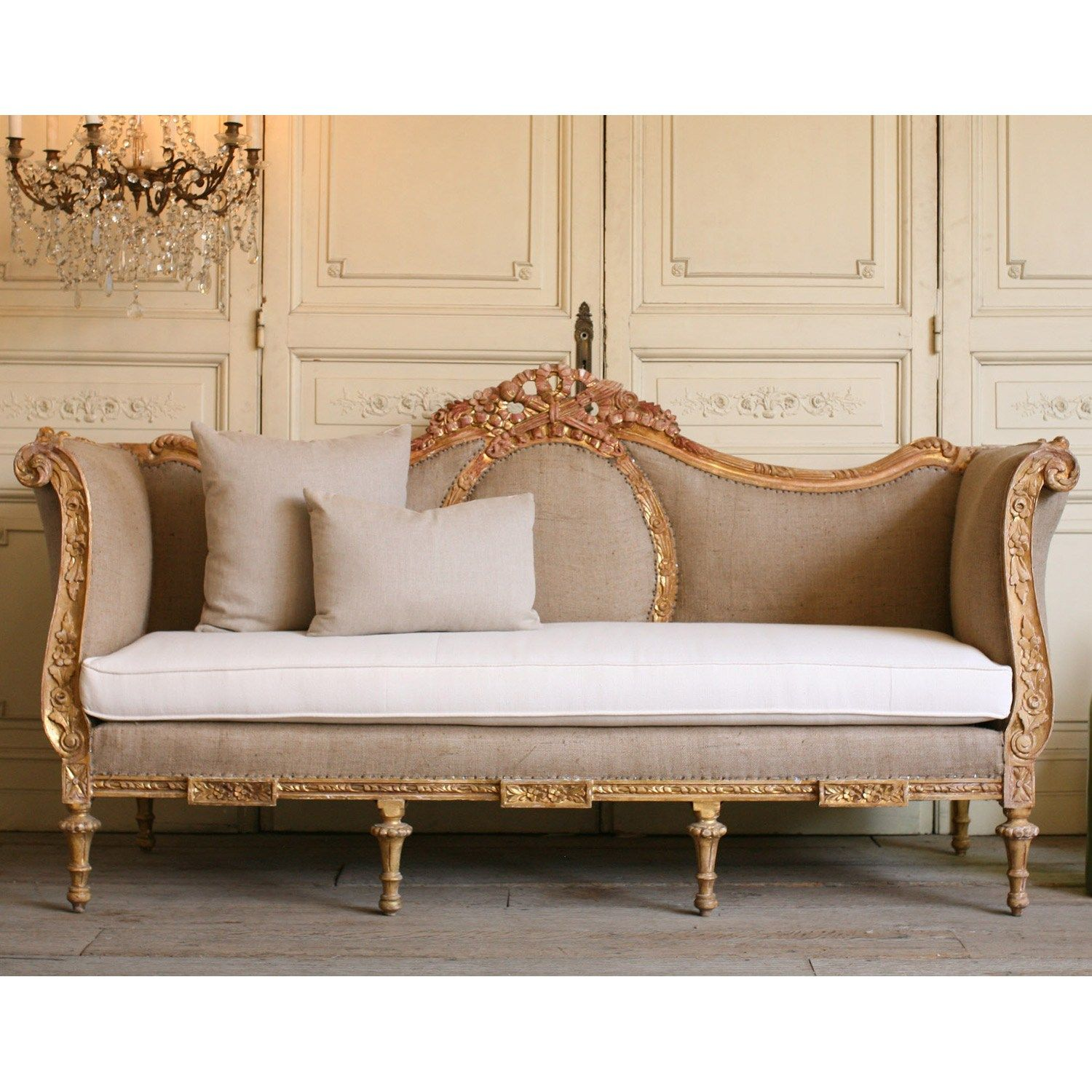 Vintage Daybed one of a kind vintage daybed ornate warm gold | for the home in 2018