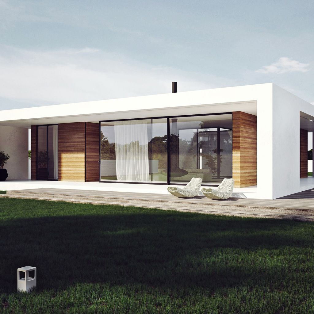 30 Charming Minimalist House Plan Ideas That You Can Make Inspiration Facade House Contemporary House Design Flat Roof House