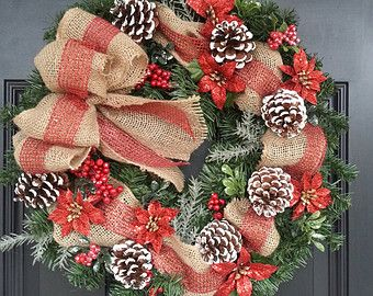 Popular items for wreath pine cones on Etsy