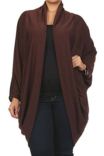 Aris Ultra Soft Stretch Slouch Cardigan Sweater Wrap PLUS Size 1XL ...