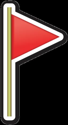 Triangular Flag On Post Triangular Sticker Patches Emoji Stickers
